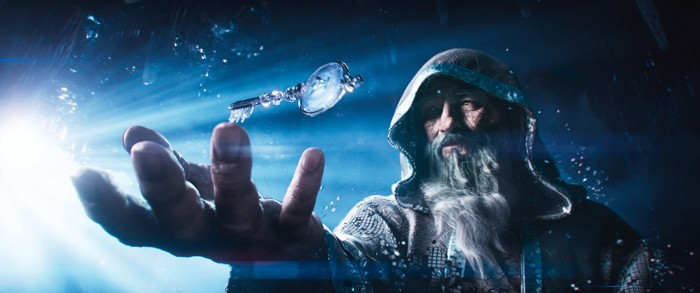 Hallidays Oasis-Avatar Anorak mit einem der begehrten Schlüssel (Bild: Warner Bros.)