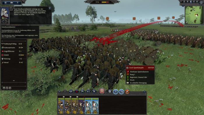 Unsere Bogenschützen hinter der Front greifen in die Schlacht ein. (Bild: Creative Assembly/Screenshot: Golem.de)