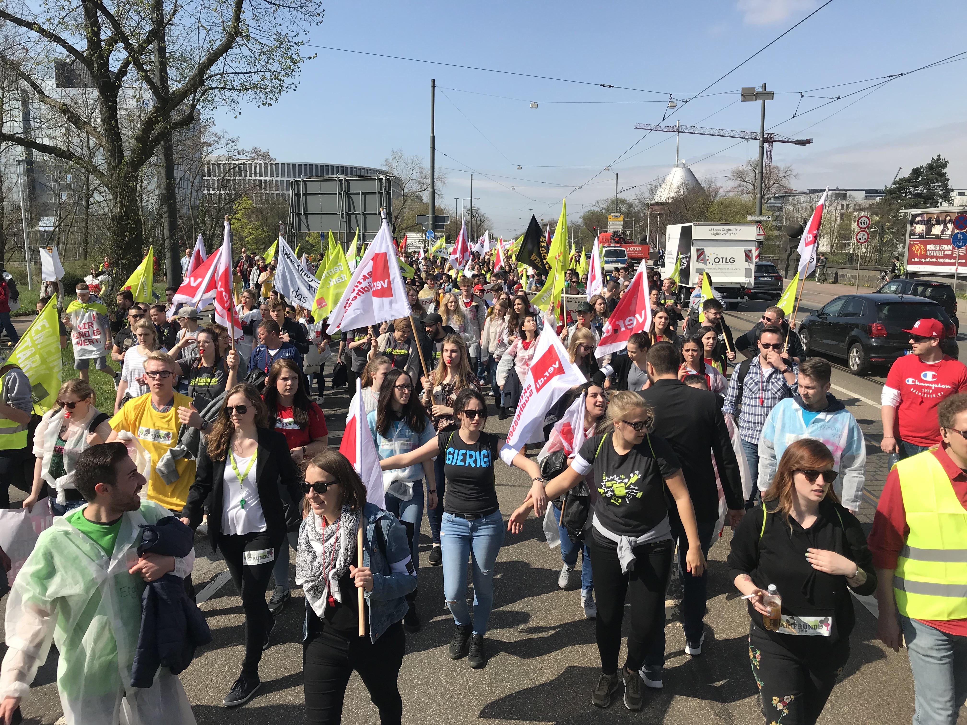 Tarifrunde: Streik bei Telekom am Mittwoch auf Höhepunkt - Bilder von der Streikaktion am 11. April 2018 (Verdi)