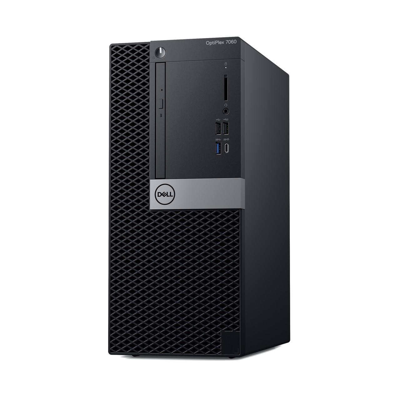 Dell: Neue Optiplex-Systeme in drei Größen und mit Dual-GPUs - Optiplex 7060 Midi-Tower (Bild: Dell)