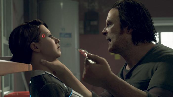 Androidin Kara muss sich von ihrem Meister Todd viel gefallen lassen. (Bild: Quantic Dream/Screenshot: Golem.de)