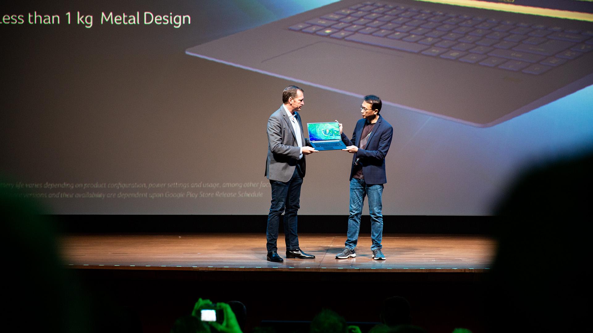Acer-Portfolio 2018: Nitro-Gaming-PCs mit Ryzen und viele neue Notebooks - Die Gaming-Marke Predator erhielt Zuwachs. (Bild: Robert Kern/Golem.de)