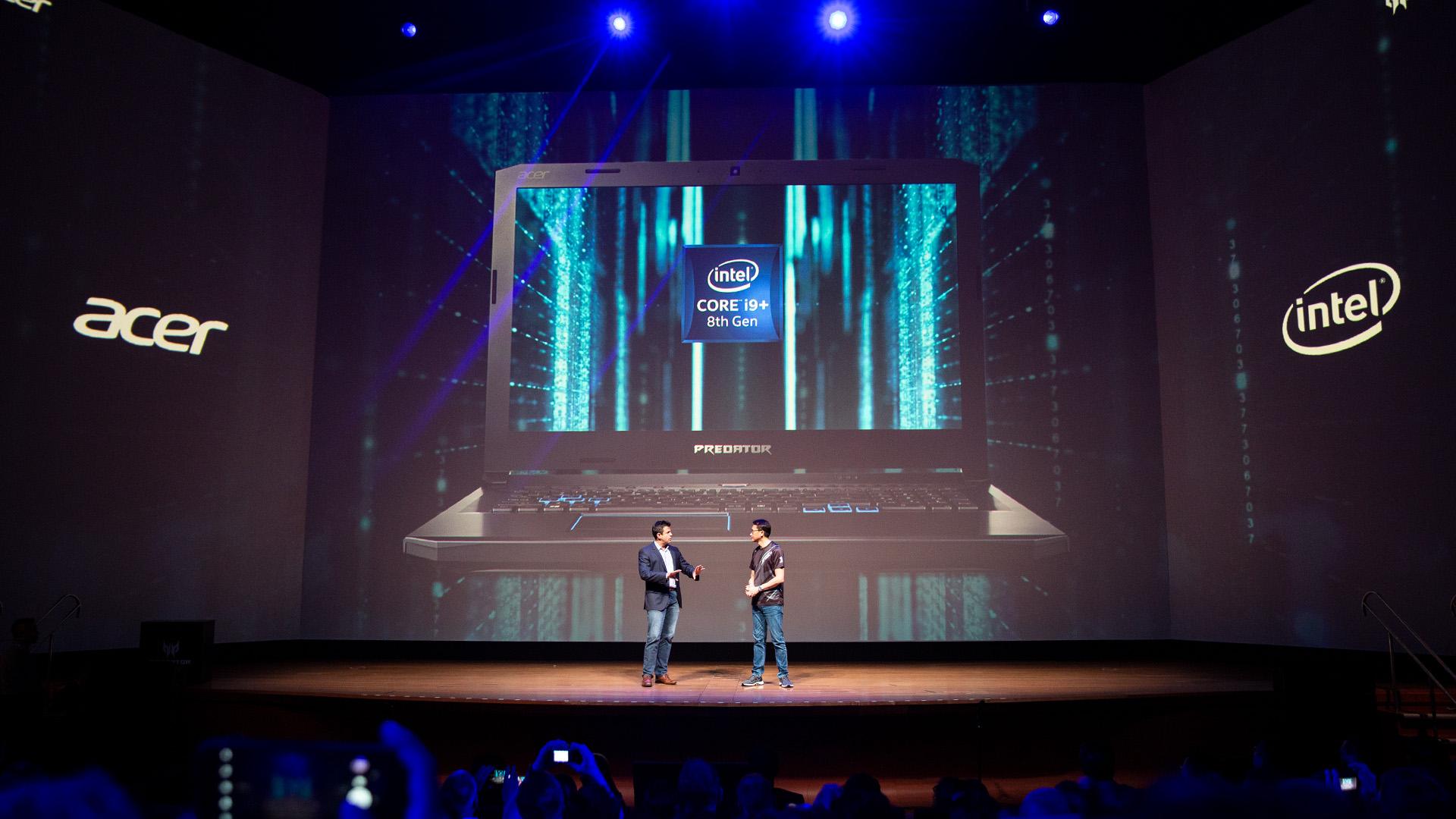 Acer-Portfolio 2018: Nitro-Gaming-PCs mit Ryzen und viele neue Notebooks - In dem 17,3-Zoll-Gamer kommt eine Intel Core i9-CPU unter. (Bild: Robert Kern/Golem.de)