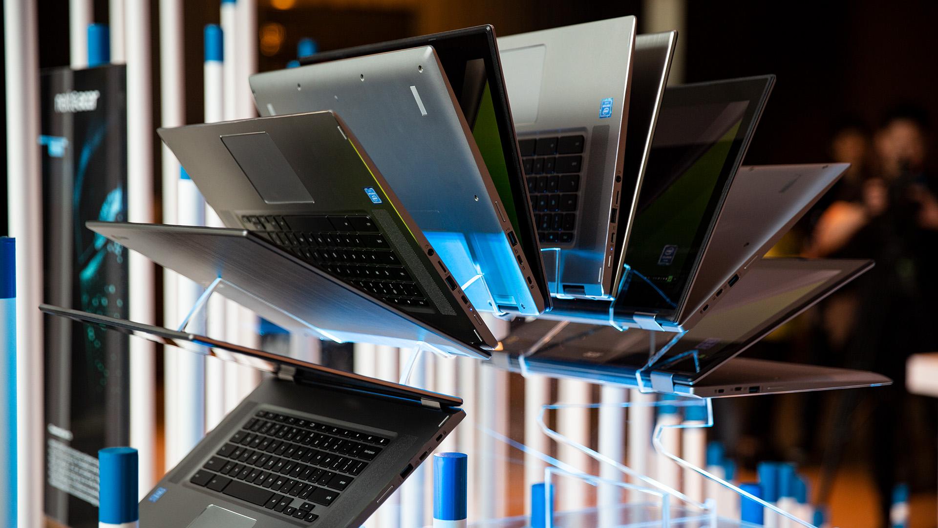 Acer-Portfolio 2018: Nitro-Gaming-PCs mit Ryzen und viele neue Notebooks - Acer zeigte ein neues Chromebook 15. (Bild: Robert Kern/Golem-de)