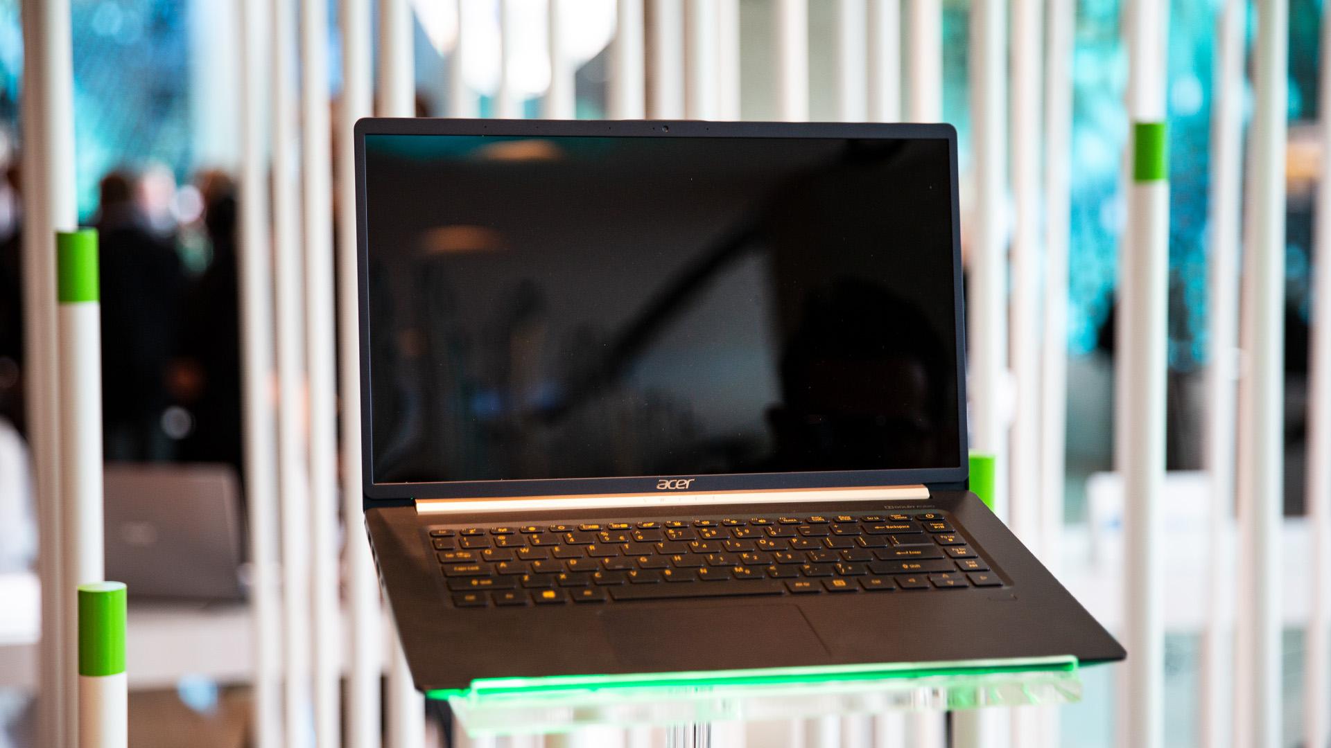 Acer-Portfolio 2018: Nitro-Gaming-PCs mit Ryzen und viele neue Notebooks - In New York war nur ein Mockup ausgestellt. (Bild: Robert Kern/Golem.de)