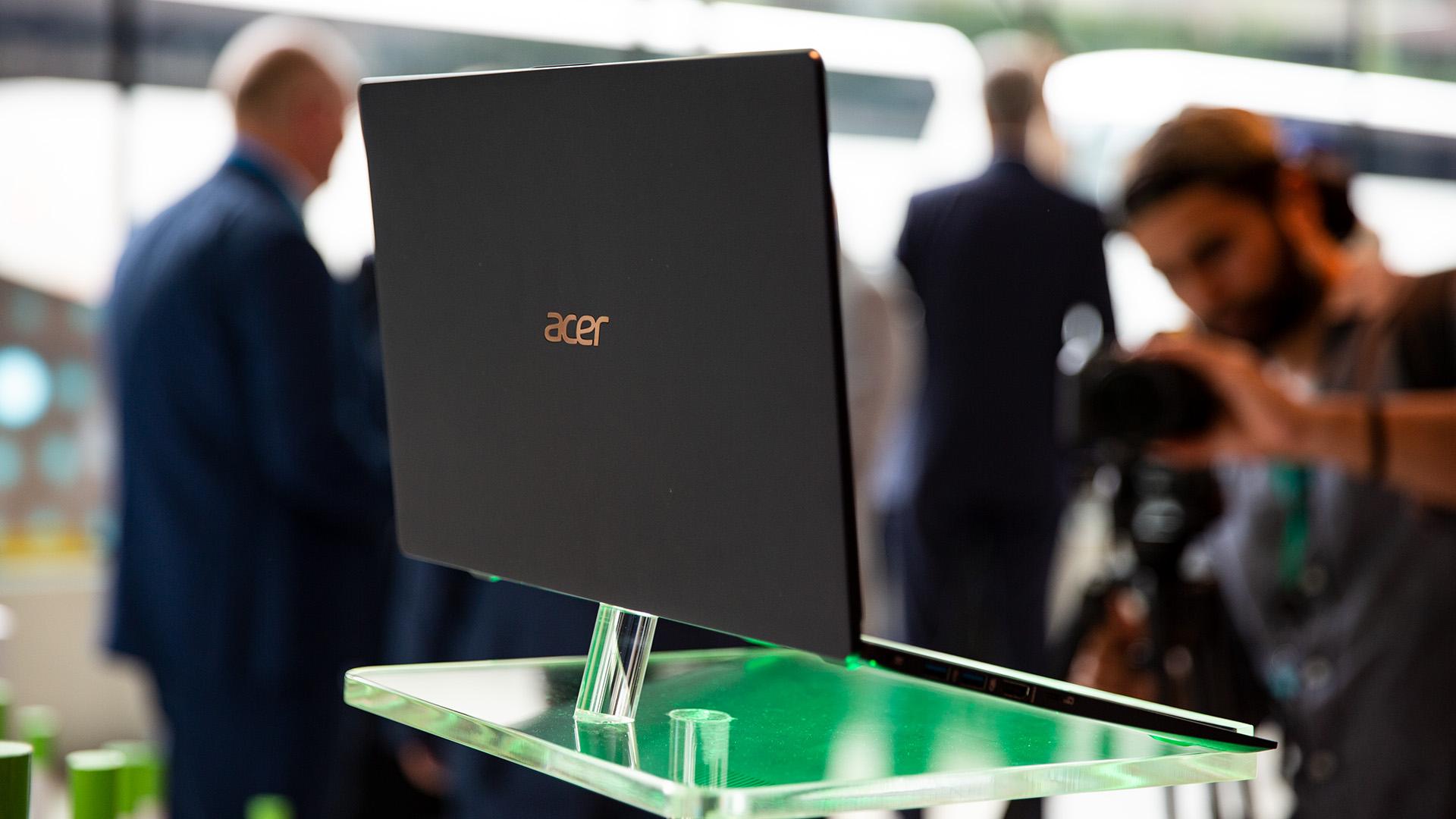 Acer-Portfolio 2018: Nitro-Gaming-PCs mit Ryzen und viele neue Notebooks - Auch einen Preis nannte Acer noch nicht. (Bild: Robert Kern/Golem.de)