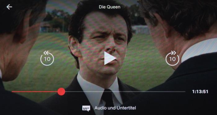Mit der neuen Netflix-App für Android können Nutzer 10 Sekunden zurück- und auch 10 Sekunden vorspringen. (Bild: Martin Wolf/Golem.de)
