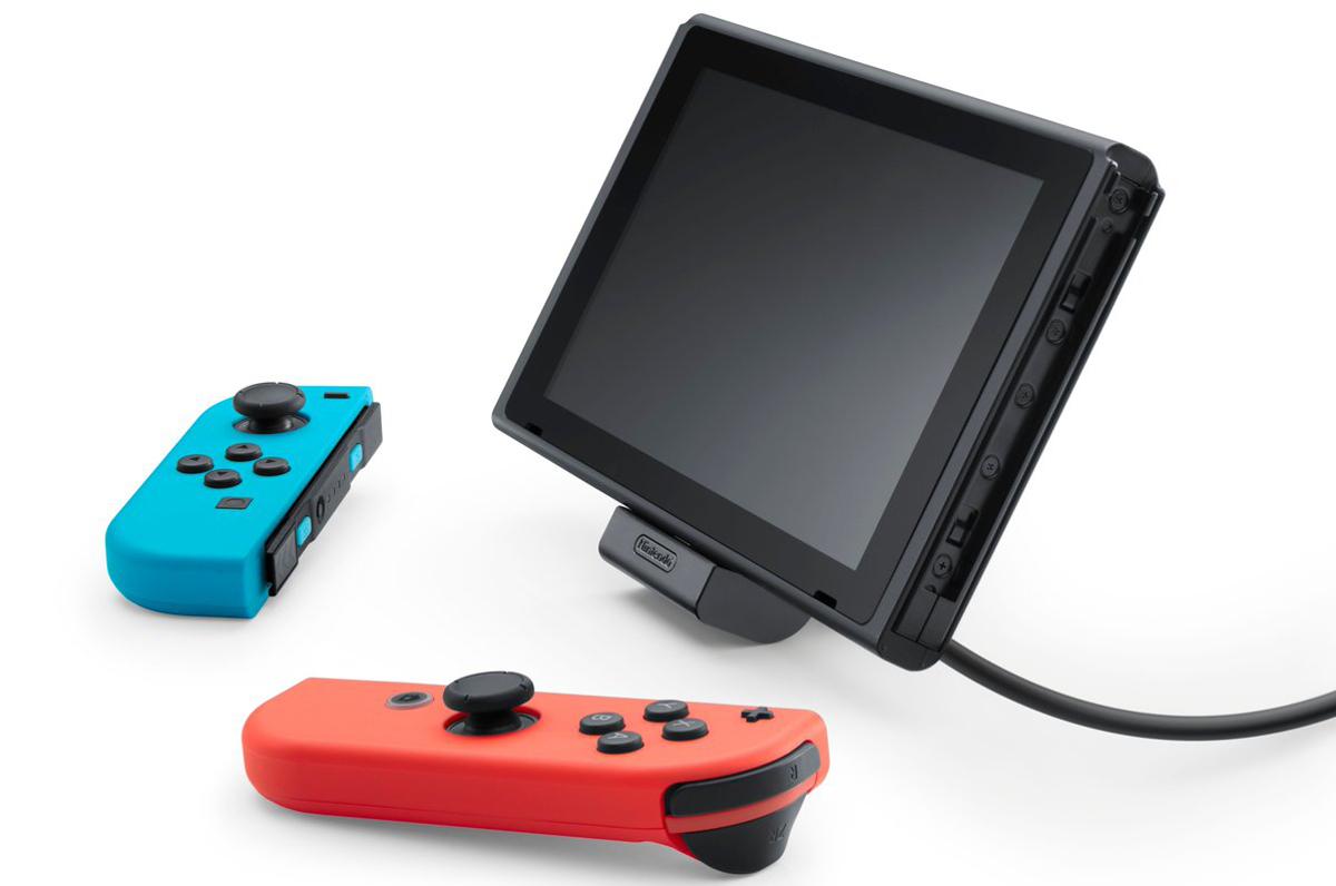 NES Classic Mini: Neue und alte Hardware von Nintendo angekündigt - Nintendo Switch Adjustable Charging Stand (Bild: Nintendo)