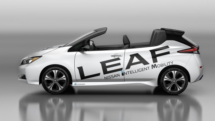 Oben ohne: Nissans Leaf als Open Car. (Bild: Nissan)