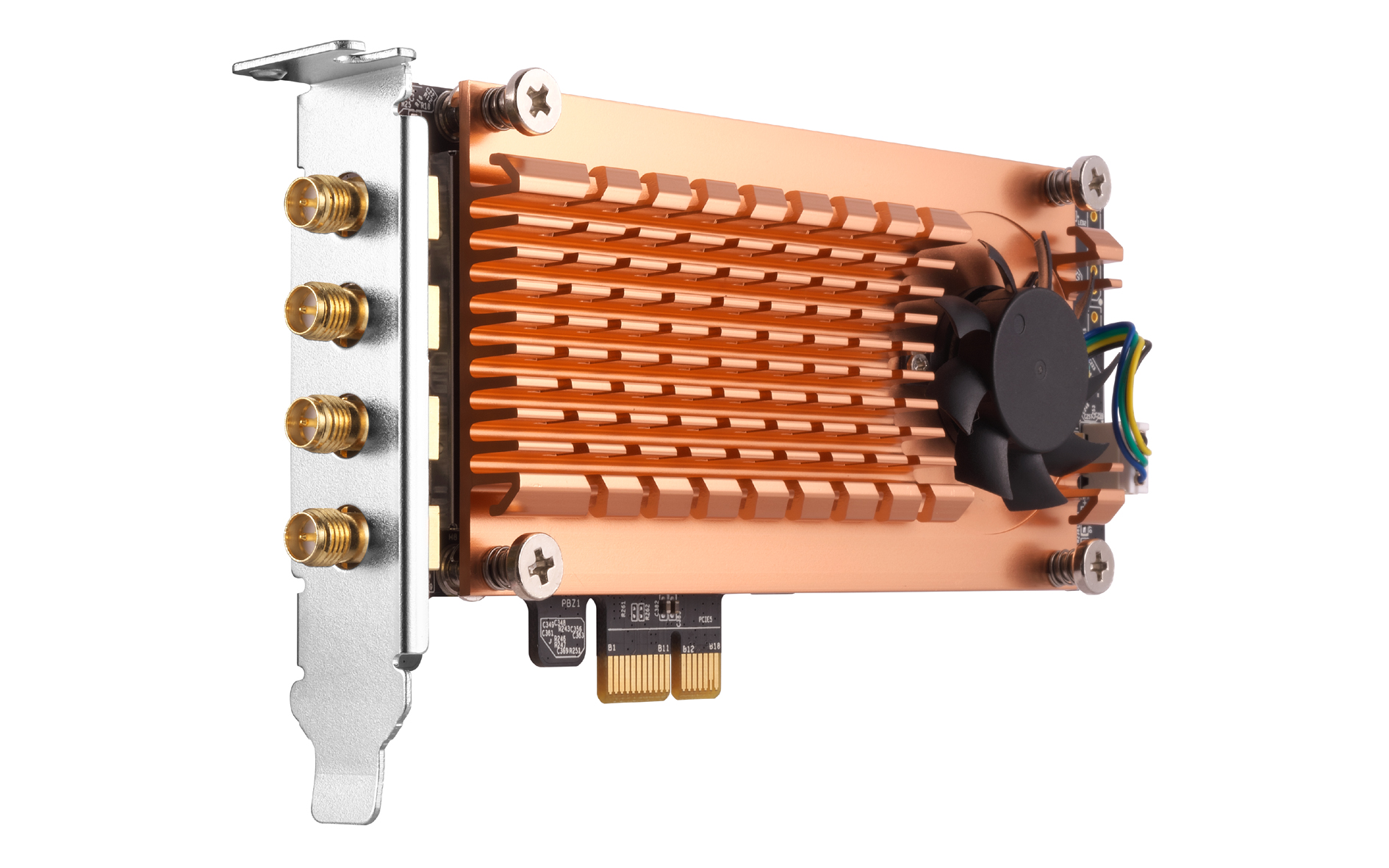 QWA-AC2600: Qnap stellt WLAN-Adapter mit zwei Netzwerkkarten vor - Qnap QWA-AC2600 (Bild: Qnap)