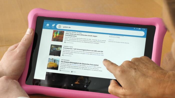 Die Golem-Webseite kann für Freetime Unlimited freigeschaltet werden. (Bild: Christoph Böschow/Golem.de)