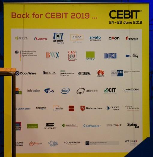 Diese Aussteller sind für die Cebit 2019 schon bestätigt. (Foto: Nico Ernst)