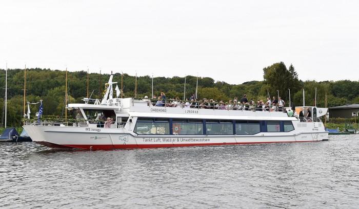 Fährt schon mit Brennstoffzellenantrieb: das Passagierschiff MS Innogy auf dem Baldeneysee bei Essen (Bild: Innogy)