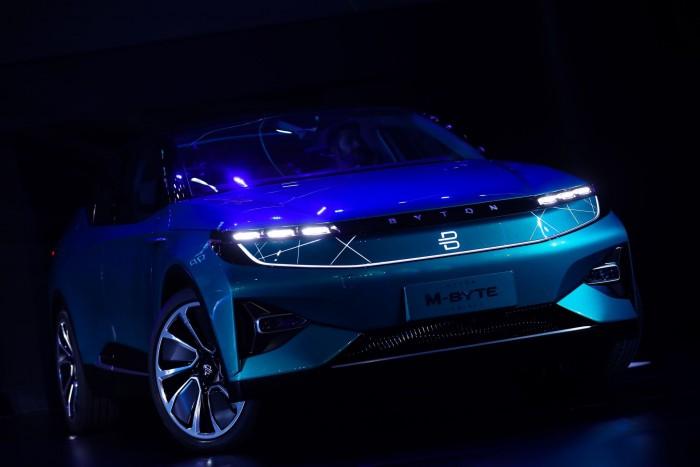 Der M-Byte - Byton hatte das Auto Anfang 2018 auf der CES in Las Vegas vorgestellt. (Bild: Byton)