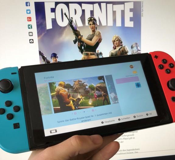 "Fortnite im Nintendo eShop mit IARC-Kennzeichung ""ab 16"""