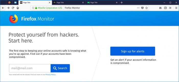 So soll der Firefox Monitor künftig aussehen. (Grafik: Mozilla.org)