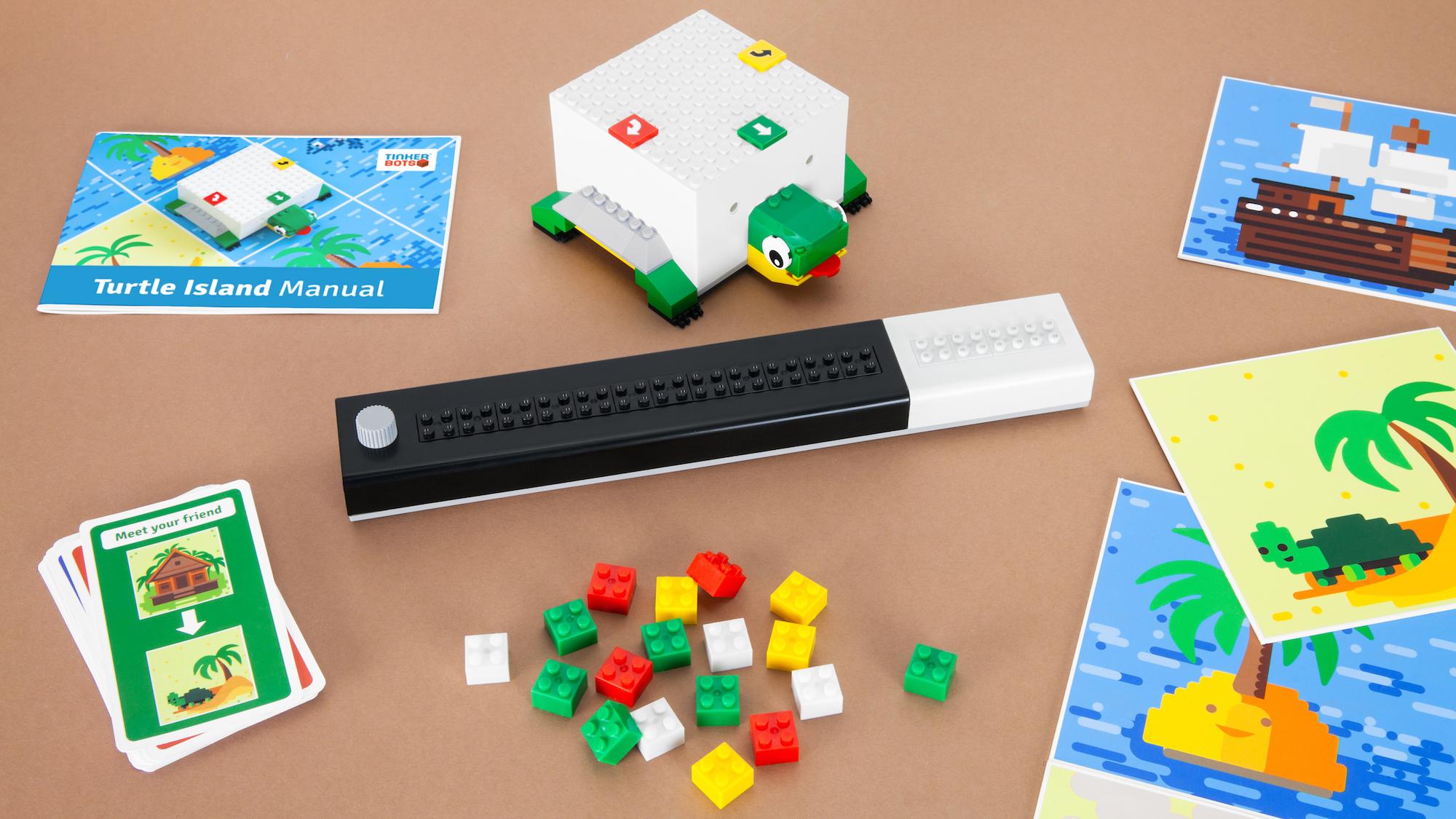 Tinkerbots Lomo: Programmieren lernen mit der IDE aus Lego-Steinen - Der Inhalt des Basis-Sets (Bild: Tinkerbots)