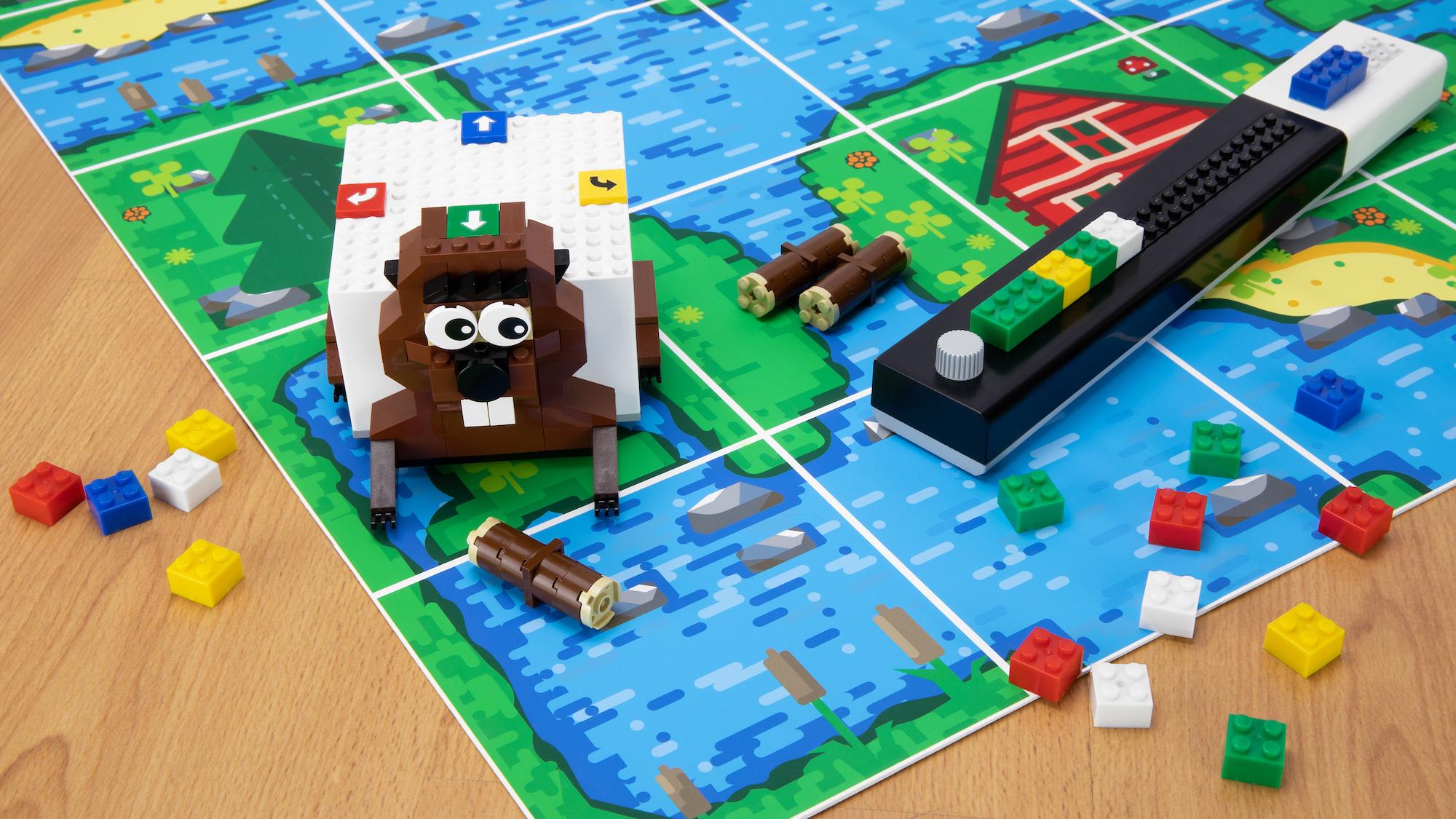 Tinkerbots Lomo: Programmieren lernen mit der IDE aus Lego-Steinen - In einem Erweiterungsset dreht sich alles um einen Biber. (Bild: Tinkerbots)