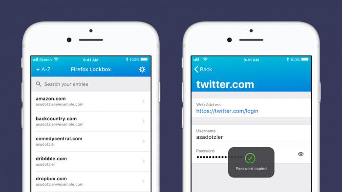 Lockbox für iOS (Bild: Mozilla)