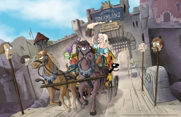 Bean, Elfo und Luci auf der Flucht (Bild: Netflix)