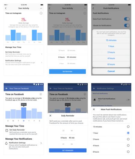 Das neue Activity Dashboard für Facebook und Instagram (Bild: Facebook)
