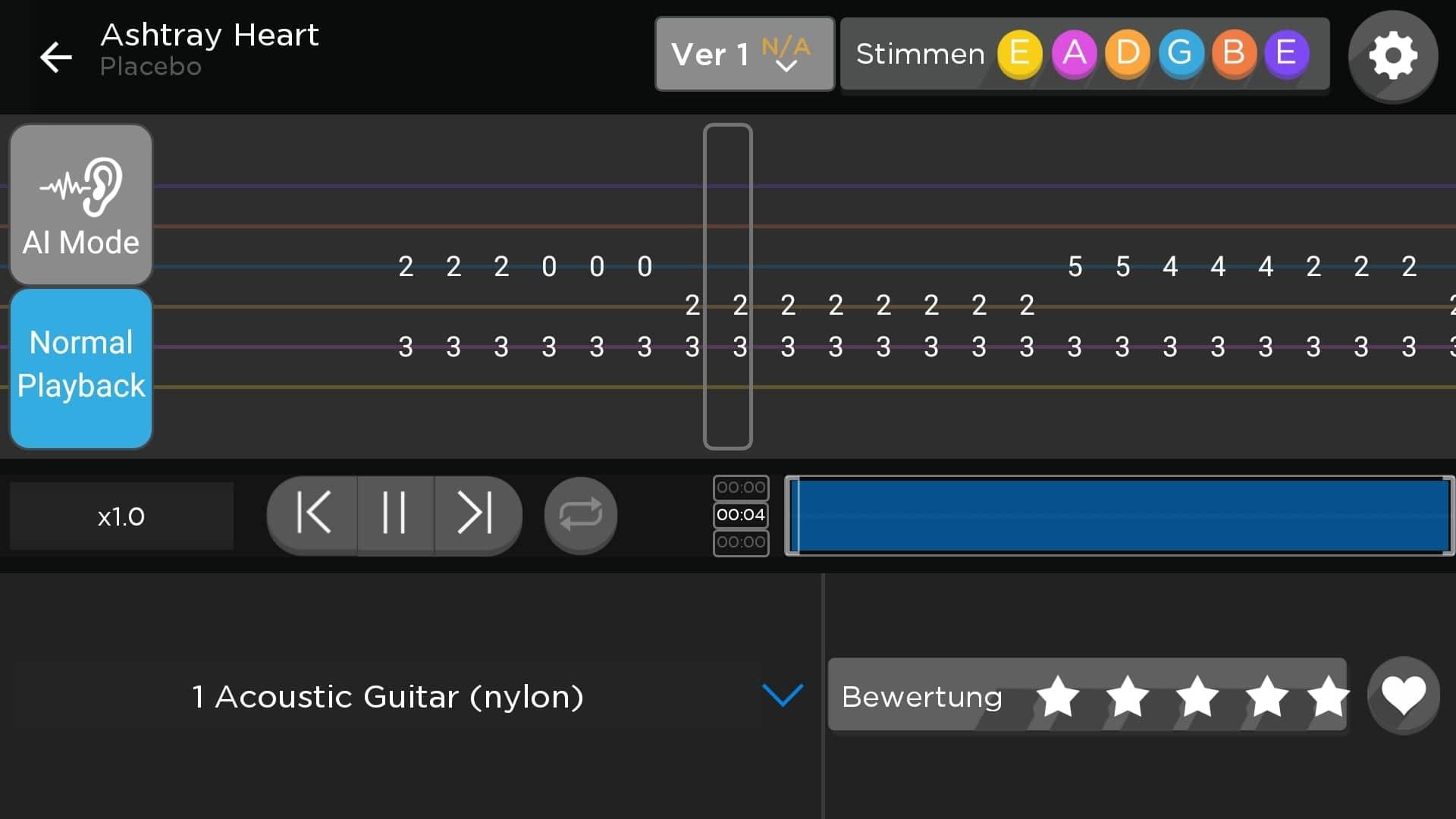 Fret Zealot im Test: Lernen mit Lichteffekten - Parallel zur Darstellung in der App sehen wir auch die entsprechenden LEDs aufleuchten. (Bild: Alexander Merz/Golem.de)