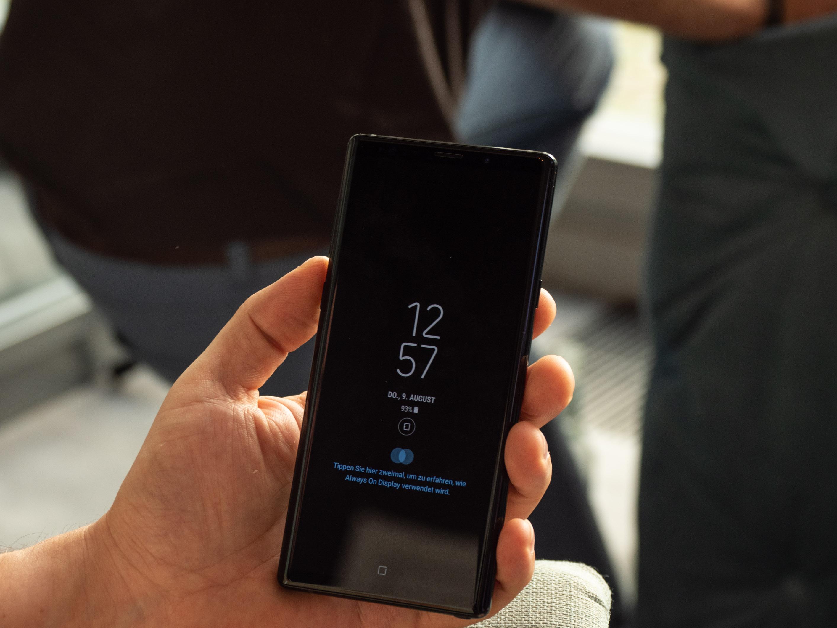 Galaxy Note 9 im Hands On: Neues Note kommt mit großem Akku und viel Speicherplatz -