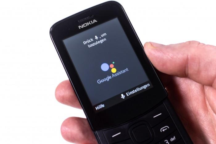 Der Google Assistant funktioniert gut auf dem Nokia 8110 4G (Bild: Martin Wolf/Golem.de)