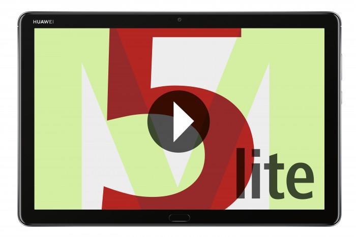 Das neue Mediapad M5 Lite von Huawei hat ein 10¤1 Zoll großes Display. (Bild: Huawei)