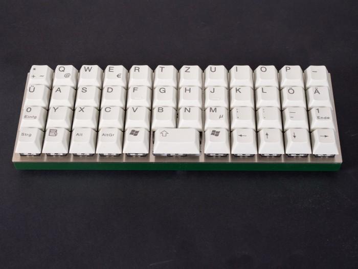Die 40-Prozent-Tastatur Planck von OLKB (Bild: Christoph Böschow/Golem.de)