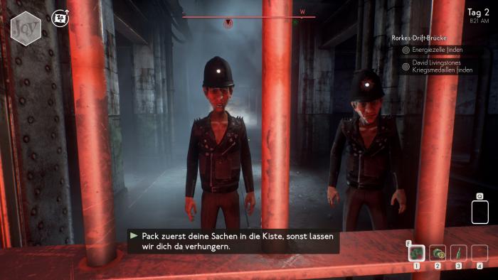 Doof gelaufen - zwei Gangster wollen an unser Eigentum. (Bild: Compulsion Games/Screenshot: Golem.de)