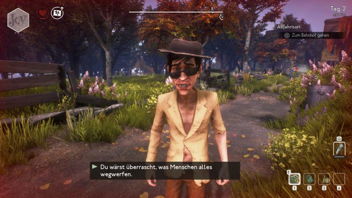 Mit den meisten NPCs können wir uns nicht richtig unterhalten. (Bild: Compulsion Games/Screenshot: Golem.de)