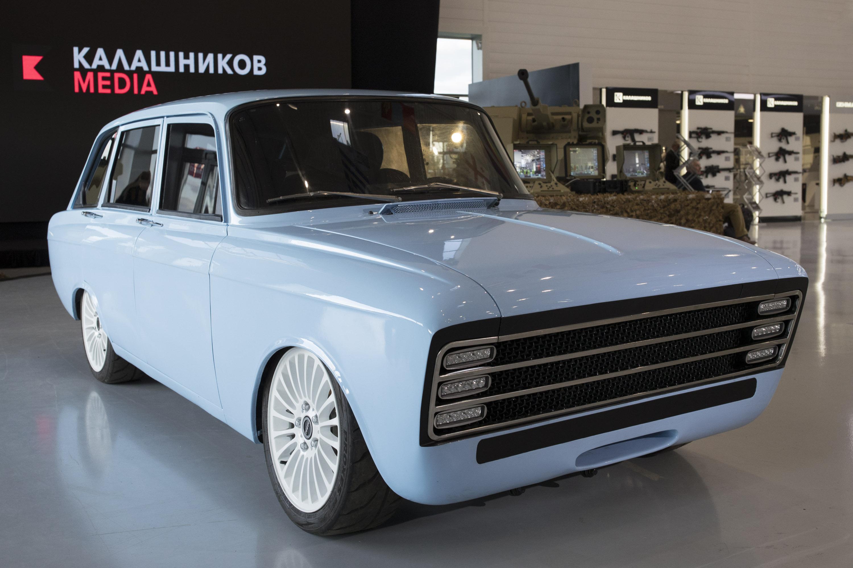 """Retrokombi: Kalaschnikow will elektrisches """"Superauto"""" bauen - Der Kalaschnikow CV-1 orientiert sich an der Kombi-Limousine ISCH-21252 aus den 1980er Jahren. (Foto: Kalaschnikow Media)"""