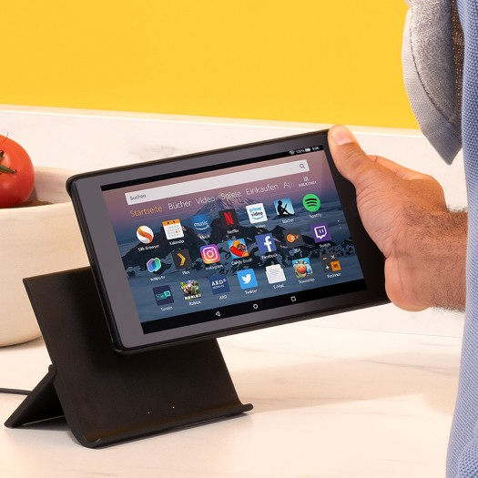 Show Modus Ladedock mit Fire HD 8 (Bild: Amazon)