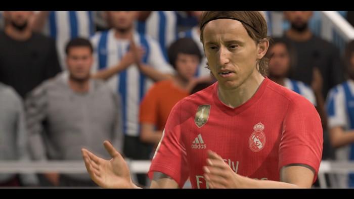 Die Spieler sehen in Fifa 19 ihren Vorbildern sehr ähnlich. Allerdings wirken die Bewegungsabläufe in PES 2019 individueller. (Bild: EA/Screenshot: Medienagentur plassma)