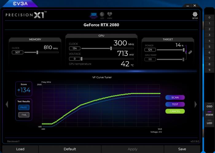 Der GPU-Scanner testet den Chip auf seine OC-Frequenz. (Screenshot: Golem.de)