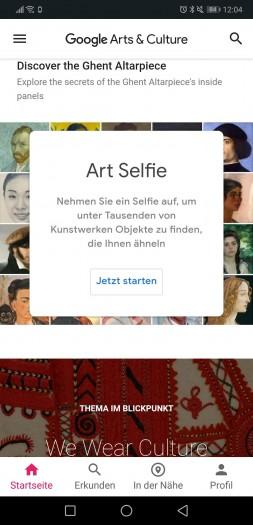 Die Art-Selfie-Funktion der Arts&Culture-App von Google ist neu in Deutschland. (Screenshot: Golem.de)