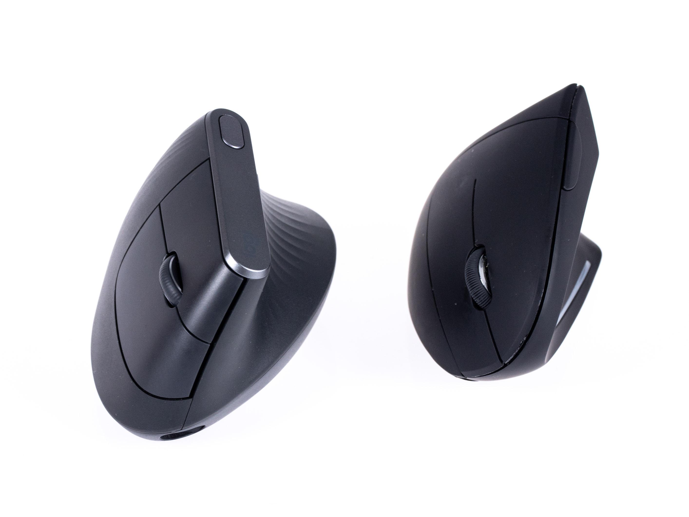 Logitechs MX Vertical im Test: So teuer muss eine gute vertikale Maus nicht sein - Logitechs MX Vertical (l.), Ankers vertikale Maus (r.) (Bild: Martin Wolf/Golem.de)