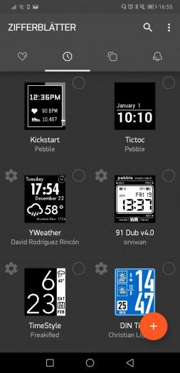 Daten wie die Auswahl unserer Watchfaces sind nach dem Login auf den Rebble-Server wieder vorhanden, da wir rechtzeitig mit unserem Pebble-Konto umgezogen sind. (Bild: Tobias Költzsch/Golem.de)