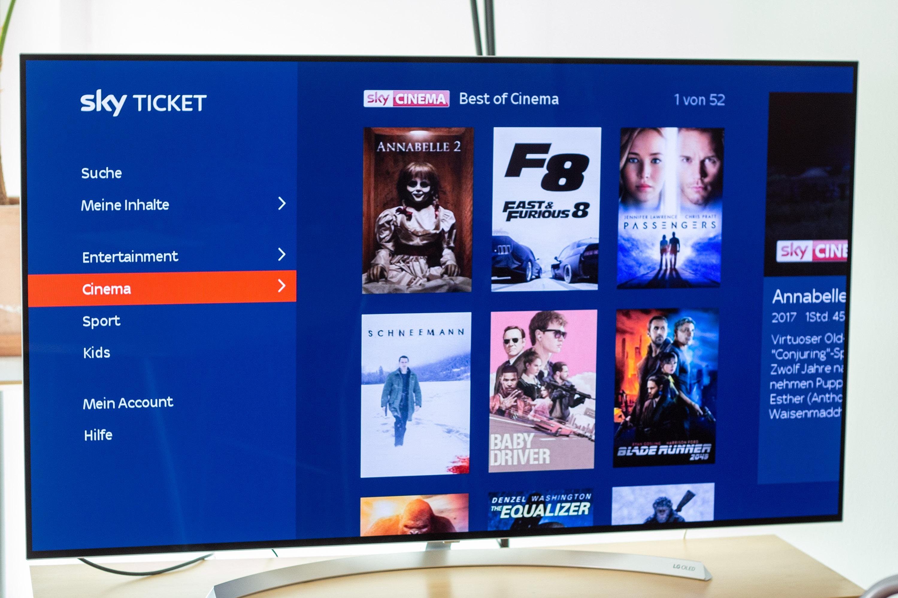 Sky Ticket TV Stick im Test: Sky kann's gut, Netflix und Amazon können es besser -