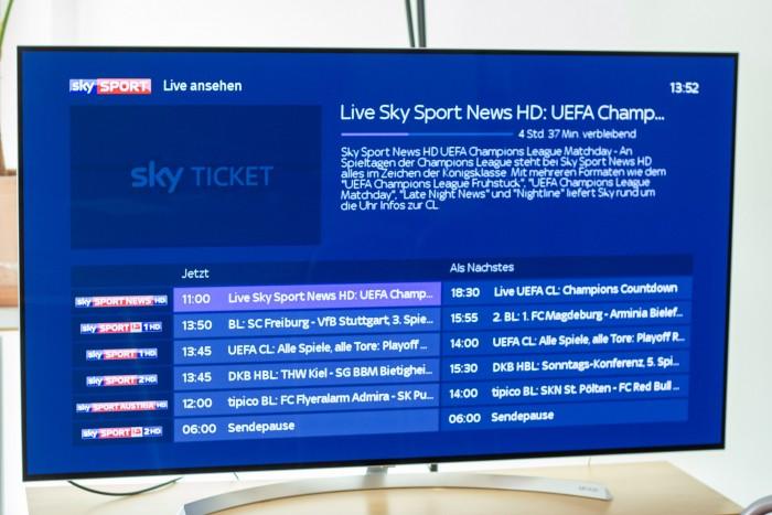 Nur Sportsendungen stehen auf dem Stick und auf dem Apple TV als Live-Stream zur Verfügung. (Bild: Christoph Böschow/Golem.de)