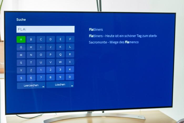 Die Sky-Ticket-Suche bietet Wortvervollständigung, kennt aber nur Filme, keine Schauspieler oder Regisseure. (Bild: Christoph Böschow/Golem.de)