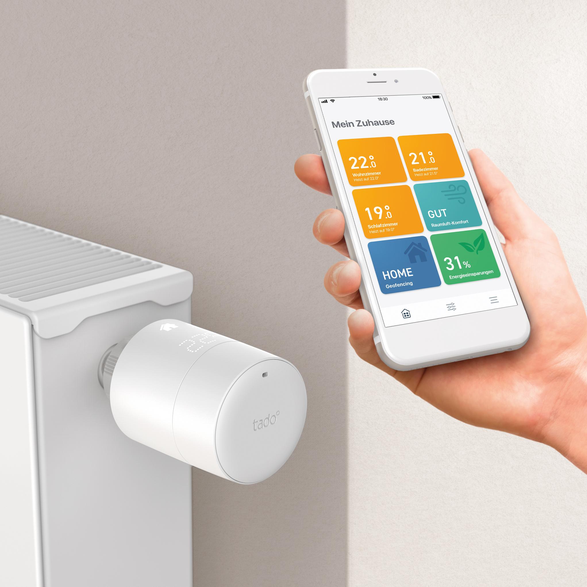 Smart Home: Tado setzt bei neuen Thermostaten auf smarte Unterstützung - Das neue V3+-Thermostat von Tado (Bild: Tado)