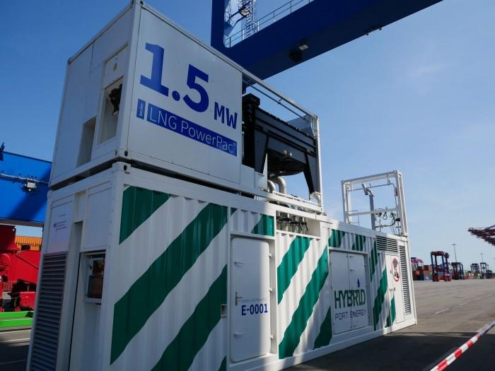 Power pac ist ein mobiles Kraftwerk des Hamburger Unternehmens Becker Marine Systems. (Bild: Dirk Kunde)