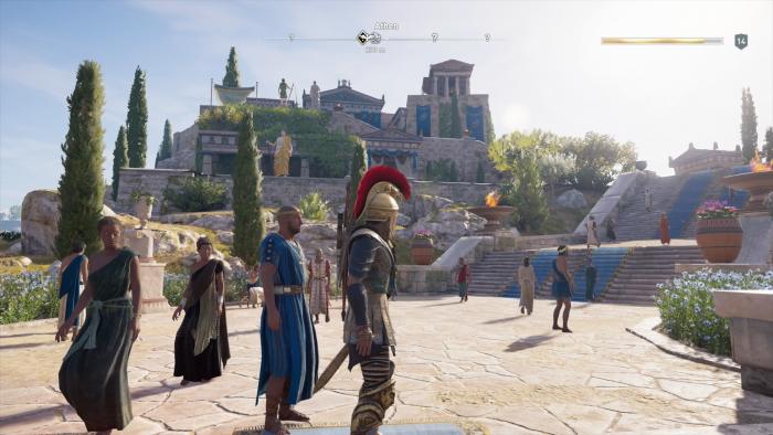 Kassandra auf dem Weg zur Akropolis in Athen (Bild: Ubisoft/Screenshot: Golem.de)