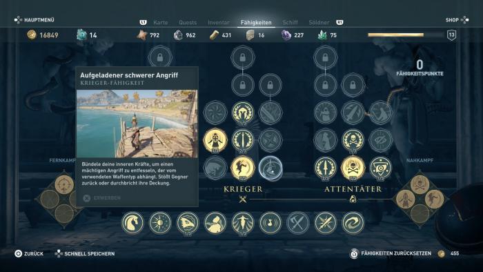Der Talentbaum erinnert stark an Origins. (Bild: Ubisoft/Screenshot: Golem.de)