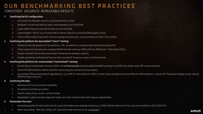 Best Practices für Benchmarks (Bild: AMD)