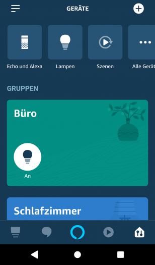 Neue Alexa-App mit veränderter Geräte- und Gruppenverwaltung (Bild: Amazon/Screenshot: Golem.de)