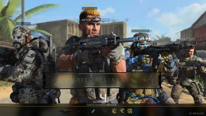 Im Multiplayermodus Kontrolle treten wir mit vier anderen Spieler an. (Bild: Activision/Screenshot: Golem.de)