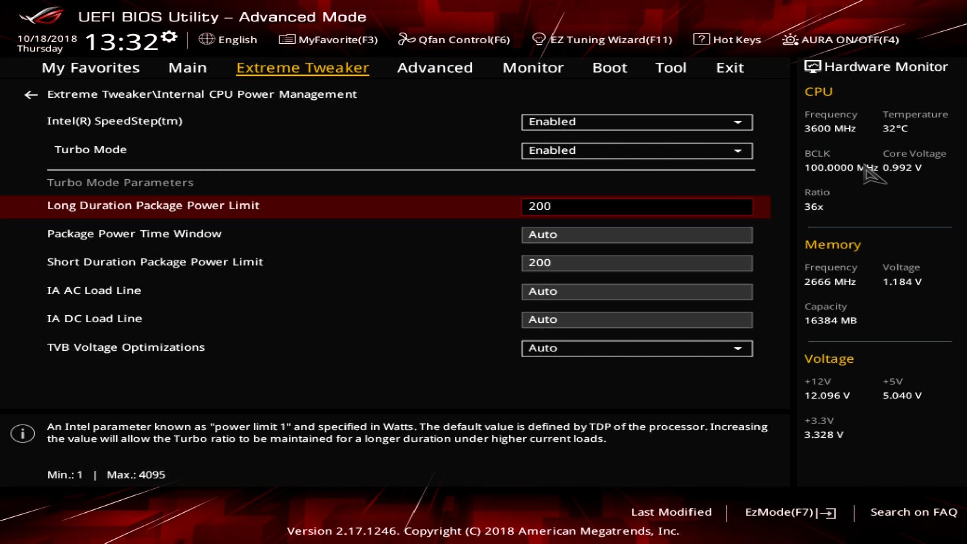 Core i9-9900K im Test: Acht verlötete 5-GHz-Kerne sind extrem - Wer die cTDP auf unter 200 Watt einstellt, verliert Leistung. (Bild: Golem.de)